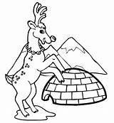 Coloring Pages Igloo Winter Reindeer Clip Architecture Printable Buildings Print Near Popular Drawing Filminspector Kb Drawings sketch template