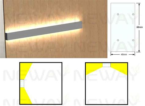 24w 60w linear led wall mounted direct indirect led