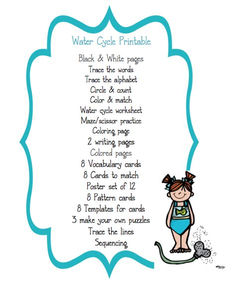 water cycle preschool preschool packet quot water cycle quot preschool printables 254