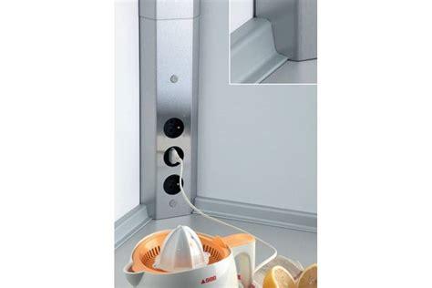 multiprise cuisine bloc 3 prises d 39 angle pour crédence accessoires de cuisines