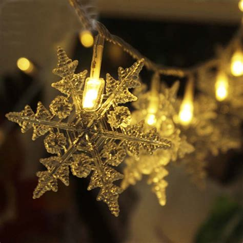 snowflake string lights outdoor 20m 200 luces de navidad new year snowflake led string