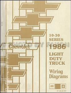 1986 Chevrolet Ck Wiring Diagram Original Pickup Suburban