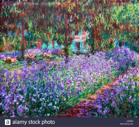 Jardin De Giverny Canvas by Landscape Garden Painting Stock Photos Landscape Garden