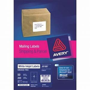 Averyr inkjet mailing labels for Avery shipping labels 4 per page