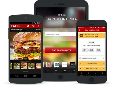 application cuisine android food delivery restaurants delivery eat24 order