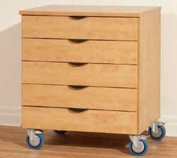 Wood Storage Cabinets With Drawers by Deluxe Wood Heavy Duty Mobile Multi Drawer Storage Cabinet