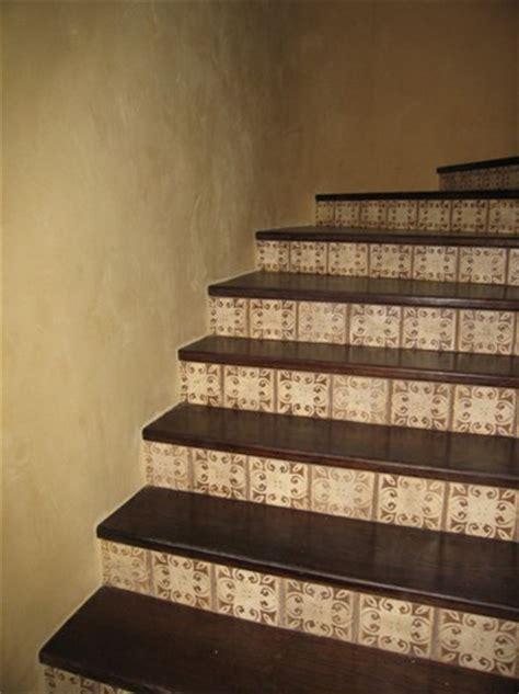 stair risers mediterranean 10 pattern with