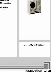 Rittal 3110000 Thermostat Assembly Instructions