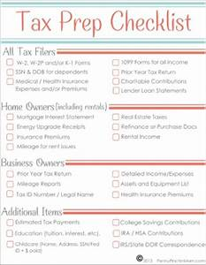 free printable tax prep checklist to get organized With documents taxes checklist