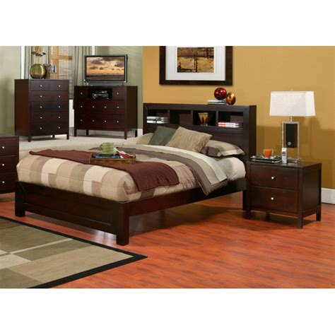 Bedroom Set With Bookcase Headboard by Solana 3 Bedroom Set With Bookcase Headboard Dcg