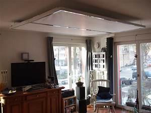 Wohnzimmer Deckenlampe : klappbare leinwand als deckenlampe deckenlampe ~ Pilothousefishingboats.com Haus und Dekorationen