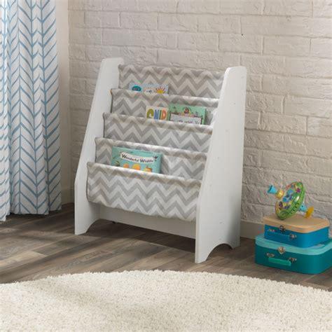 White Sling Bookcase by Kidkraft White Sling Bookshelf Grey Smart Kid Store