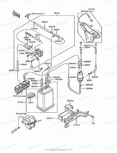 Kawasaki Motorcycle 1994 Oem Parts Diagram For Fuel