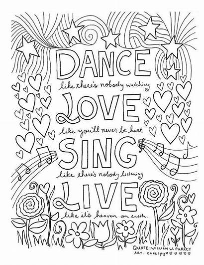 Coloring Quotes Pages Craftsy Inspiring Pattern Paper
