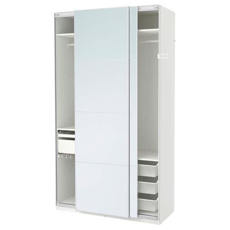 Canapé 150 Cm Ikea by Pax Wardrobe White Auli Mirror Glass 150x66x236 Cm Ikea