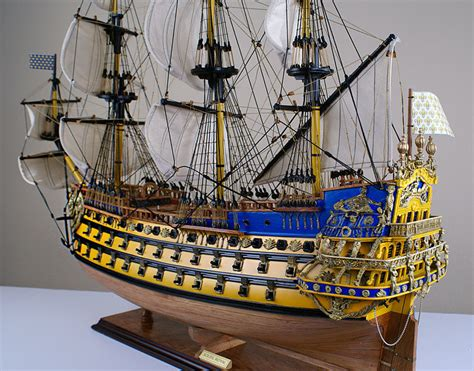Boats For Sale France Ebay by Soleil Royal 32 Quot Wood Ship Model Sailing Tall French Boat