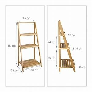 Küchenwagen Selber Bauen : relaxdays blumentreppe innen 3 stufen bambus klappbar leiterregal pflanzenregal h x b x t ~ Buech-reservation.com Haus und Dekorationen