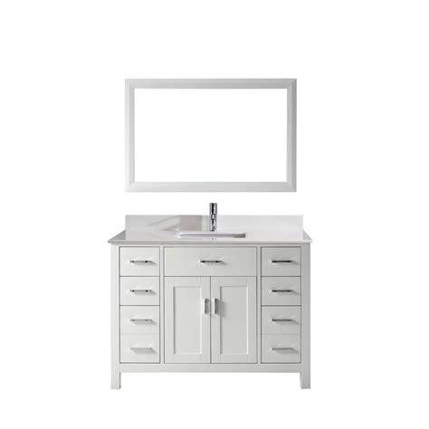 studio bathe vanity studio bathe kalize 48 in vanity in white with solid