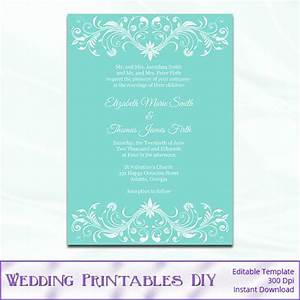 tiffany blue wedding invitation template by With free printable tiffany blue wedding invitations