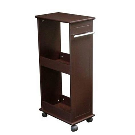 rolling shelves for kitchen cabinets riverridge home 16 in w rolling side cabinet with shelves 7803