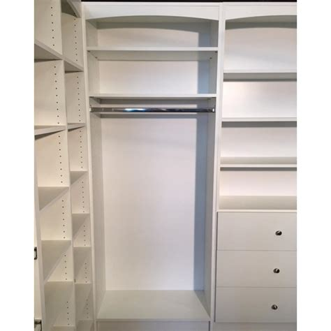 White Hanging Wardrobe by Wardrobe Hanging Closet System 14 In D X 32 In W X 84 In