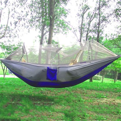 one person hammock single person portable parachute fabric mosquito net