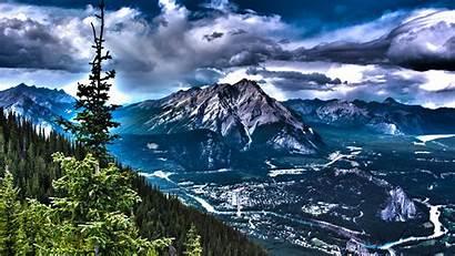Hdr Landscape Canada Mountains Nature 4k Desktop