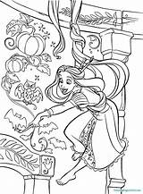 Coloring Rapunzel Pages Tower Tangled Printable Getcolorings Tangl sketch template