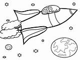 Coloring Satellite Pages Space Getcolorings Printable sketch template
