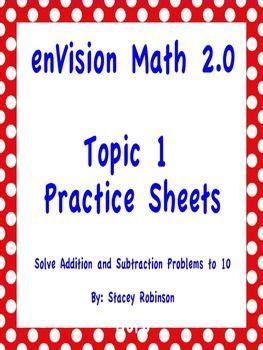 Envision Math 2 0 Grade 5 Answers  Envision Math Grade 3 Ebayenvision 2 0 Topic 6 1