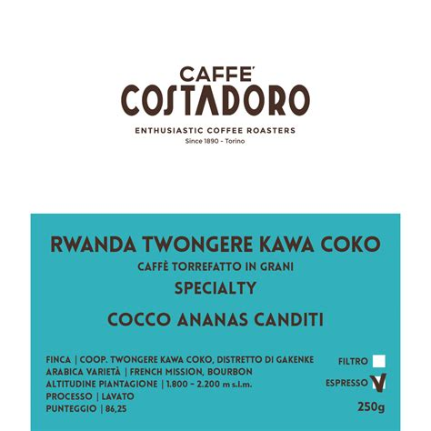 To start 2020, he had the chance to open a café owner's dream spot, replacing blue bottle on echo park's main drag. Rwanda Twongere Kawa Coko - Specialty Coffee in grani per Espresso 250g