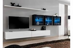 Meuble Design Tv Mural : meuble mural tv design laqu novomeuble ~ Teatrodelosmanantiales.com Idées de Décoration