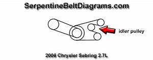 2008 Chrysler Sebring Serpentine Belt Diagram