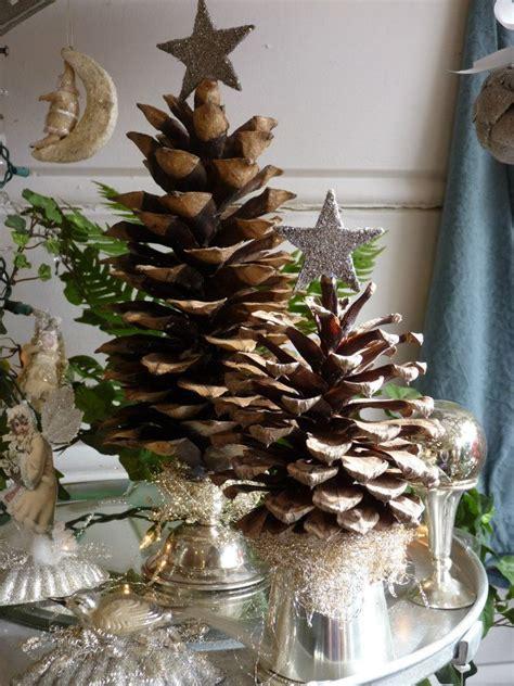 Pinecone Christmas trees  charming!   Christmas
