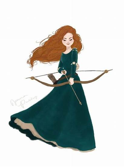 Disney Merida Jenna Brave Paddey Fan Princess