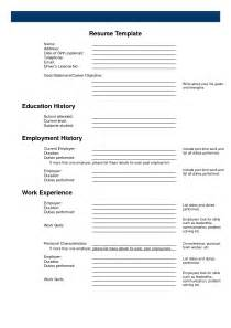 free printable template for a resume free printable resume templates student resume template