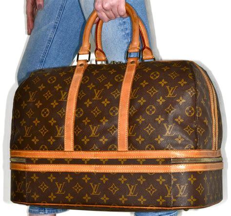 louis vuitton duffle sac sport carry  luggage  brown monogram weekendtravel bag tradesy