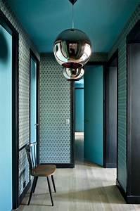 amenager un couloir nos bons tuyaux blog quotma maison mon With peindre des poutres au plafond 5 peindre un plafond en couleur toutes nos inspirations