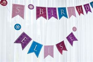 Personalized Princess Happy Birthday Banner Printable PDF