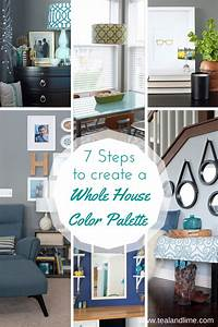 7 steps to create your whole house color palette teal lime for Whole home interior paint ideas