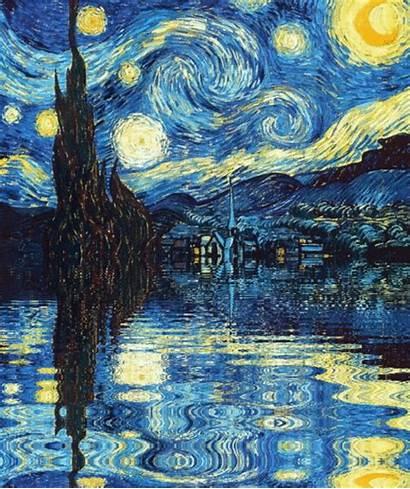 Starry Night Animated Painting Cool Gogh Van