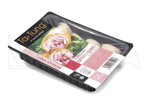 Modified Atmosphere Packaging For Cheese by Ham And Cheese Rolls Packaging In Thermoforming With