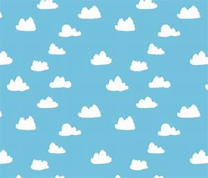 clouds // soft pastel baby blue clouds illustration ...