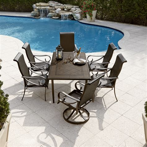 Grand Resort Aspen Patio Furniture by Grand Resort Aspen 7pc Aluminum And Wicker Dining Set With