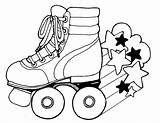 Roller Skate Printable Party Birthday Coloring Skates Skateboard Skating Template Clip Drawings Sheet Clipart Rollerskates Togethers Pintere sketch template