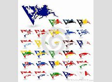 Bad Condition Flags Of The European Union Stock Vector