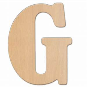 jeff mcwilliams designs 15 in oversized unfinished wood With wooden letter g