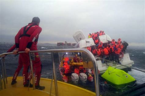 Sinking Boat Cape Town by 68 Passengers Rescued From Sinking Robben Island Ferry