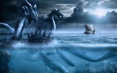 Sea Creatures Mythical Monster Wallpapers Creature Wallpaperplay