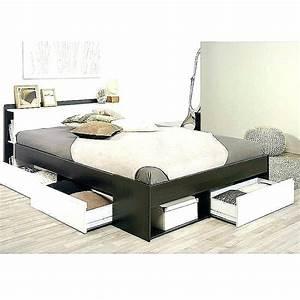 Lit Deux Places Conforama : lit deux places avec tiroir lit deux places lits 2 en bois ~ Melissatoandfro.com Idées de Décoration